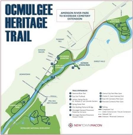 Ocmulgee Heritage Trail Map