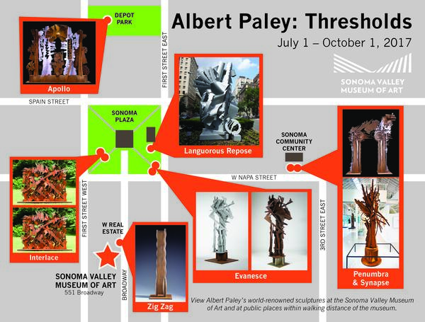 Albert Paley Public Art Map