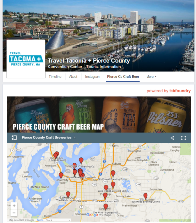Pierce County Craft Breweries Map on Facebook page