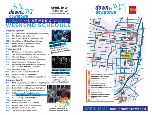 2018 Down by Downtown Music Festival Schedule