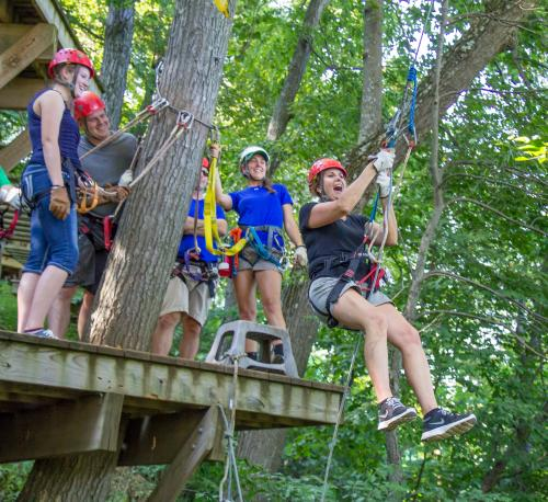 Ziplining at Roundtop Mountain Resort