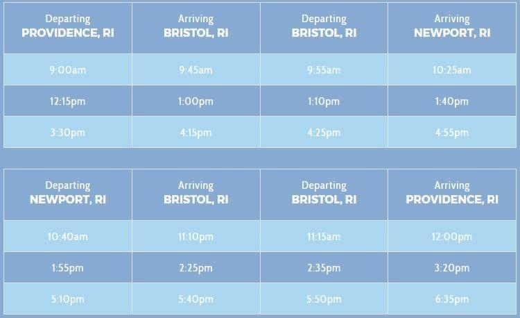Bristol Parade Schedule Ferry
