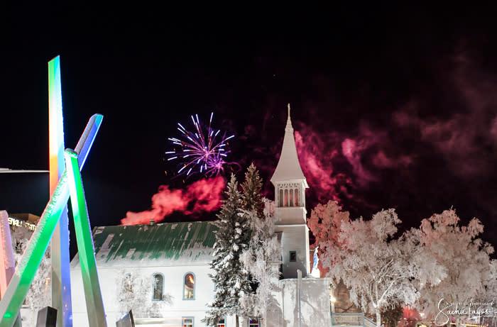Downtown Fireworks Winter Solstice - Sacha Layos - Fairbanks Alaska
