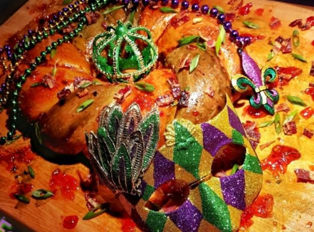 Boudin King Cake by Chef Derrill Guidry