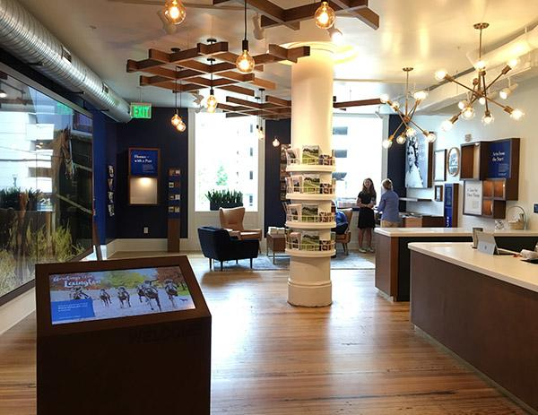 First day in new Visitor Center