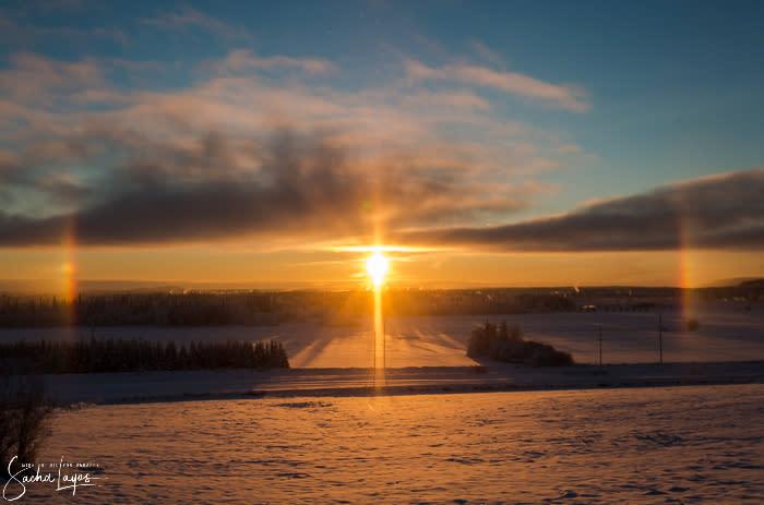 Solstice Sundog - Sacha Layos of Midnight Oil Photography - Fairbanks Alaska