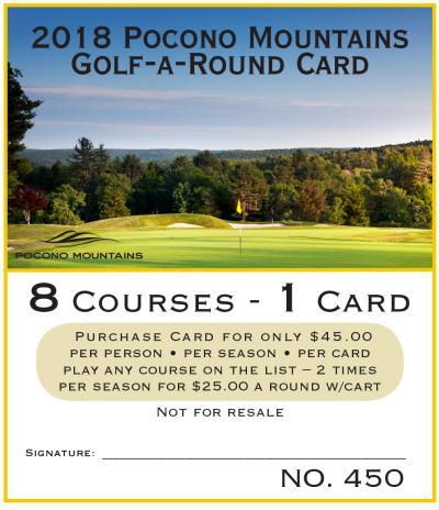 2018 Golf-A-Round Card