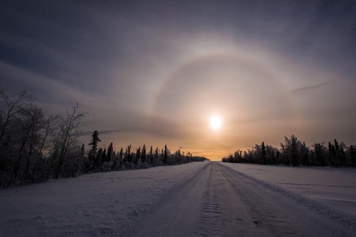 Winter Solstice SunDog - Frank Stelges - Fairbanks Alaska