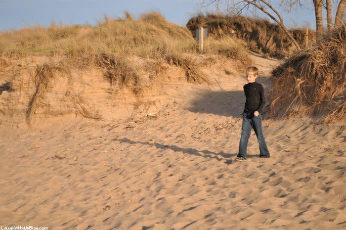 Indiana Dunes West Beach sand