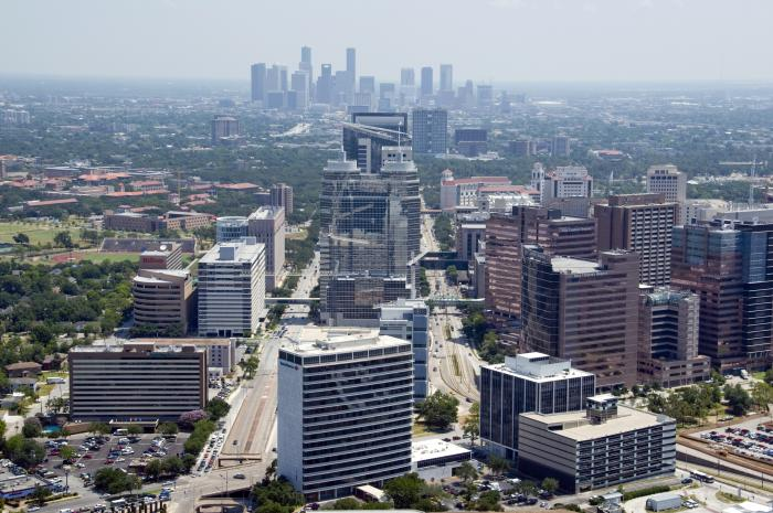 Texas Medical Center from Aerial Shot