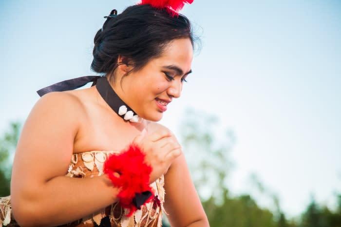 Polynesian dancer at luau at Thanksgiving Point