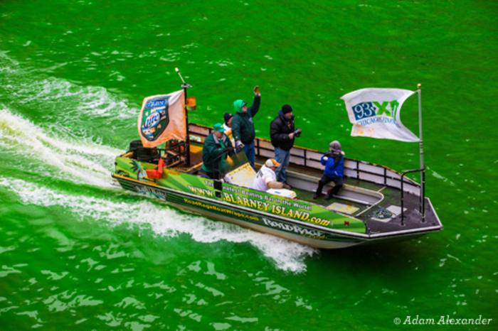 St. Patrick's Day Chicago River Dyeing