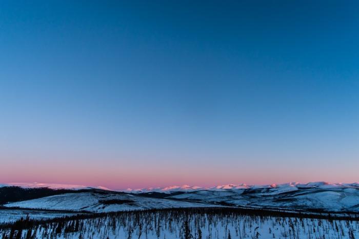 Steese Highway Alpenglow - Frank Stelges - Fairbanks Alaska