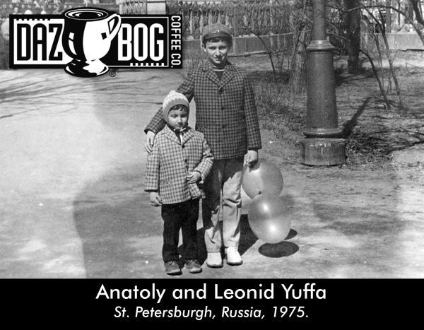 Dazbog Coffee founders Anatoly and Leonid Yuffa