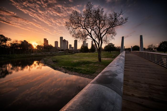 Houston Dawn at Buffalo Bayou