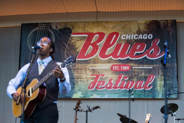 Performer at Chicago Blues Festival