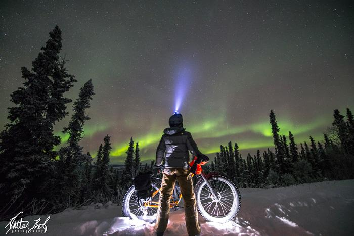 Aurora-gazing by fat bike - Nathan Belz Photography - Fairbanks Alaska