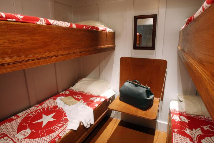 A recreated third class Titanic cabin at the new Lipont Place exhibition. PHOTO CREDIT: Premier Exhibitions/Lipont Place.