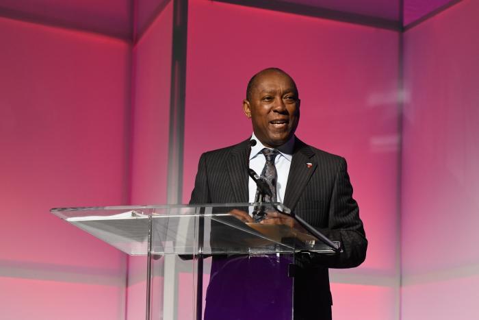 Mayor Tuner at Houston Tourism Summit