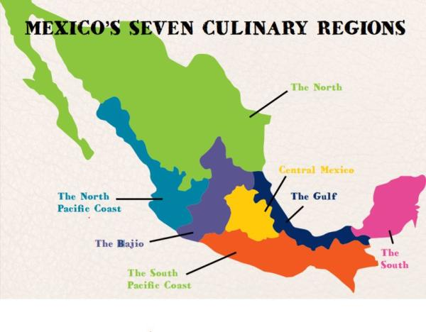 mexico culinary map