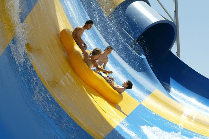 People rafting at Houston Splashtown