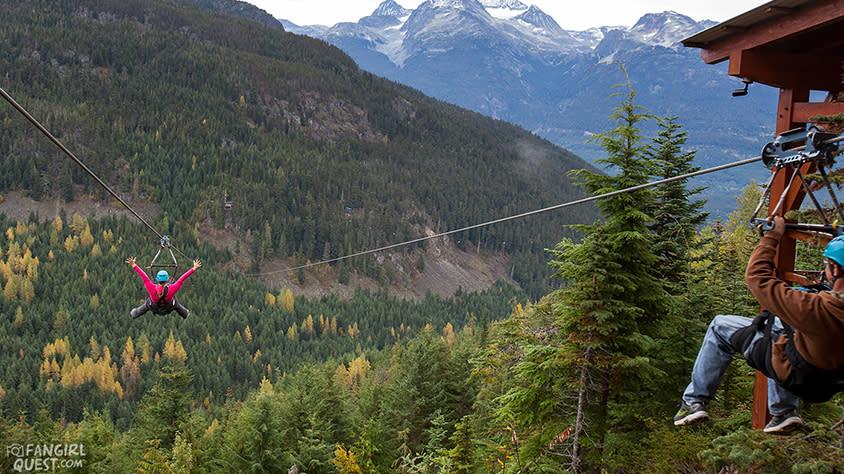 FanGirl Quest: Whistler Ziplining