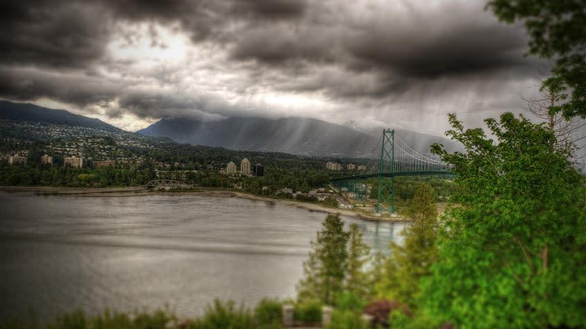 Rain Clouds and the Lions Gate Bridge