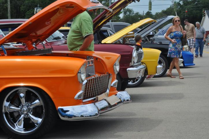 Orange Car at Star & Stripes Car Show in Sulphur, LA