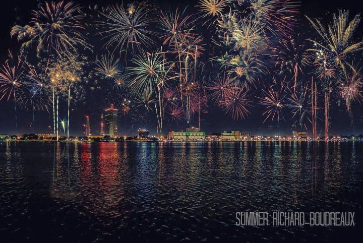 Fireworks over Lake Charles by Summer Richard-Boudreaux