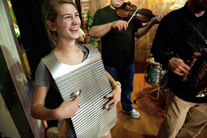Girl Playing Washboard