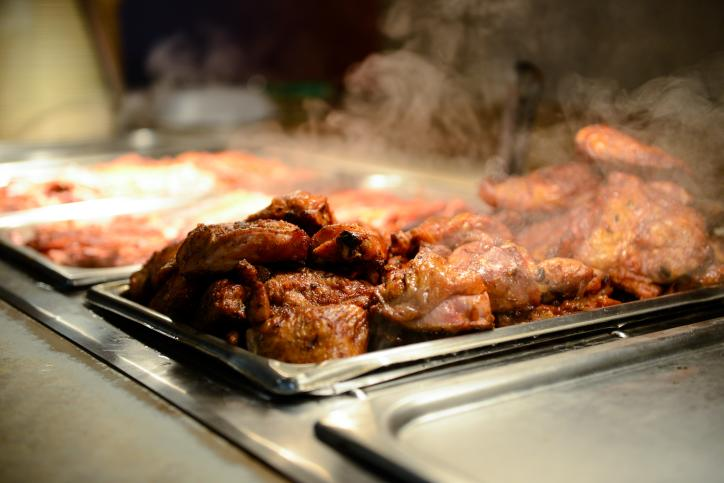 Barbeque chicken at Hollier