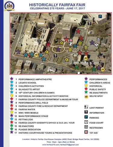Fairfax 275 - Festival Map