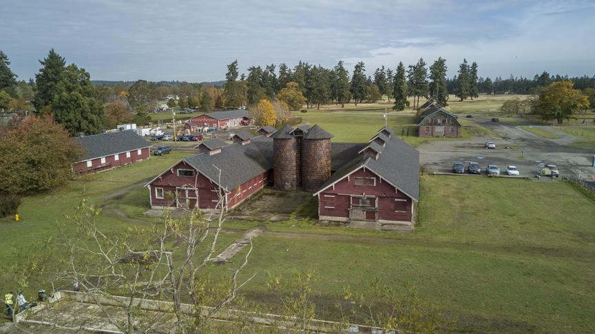 Barns at Fort Steilacoom Park in Lakewood