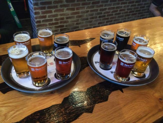 Beer Flights at Three Notch'd Brewing Company