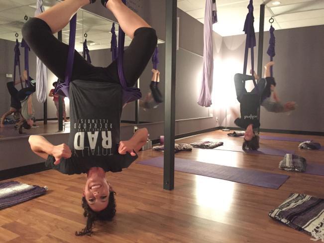 aerial yoga upside down