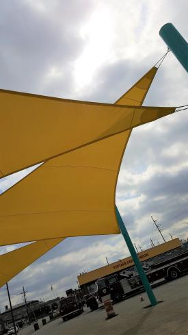 Jeffersonville Arts district yellow sails