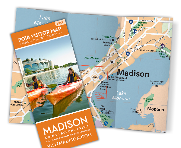Thumbnail image of the 2018 Visitor Map cover and interior