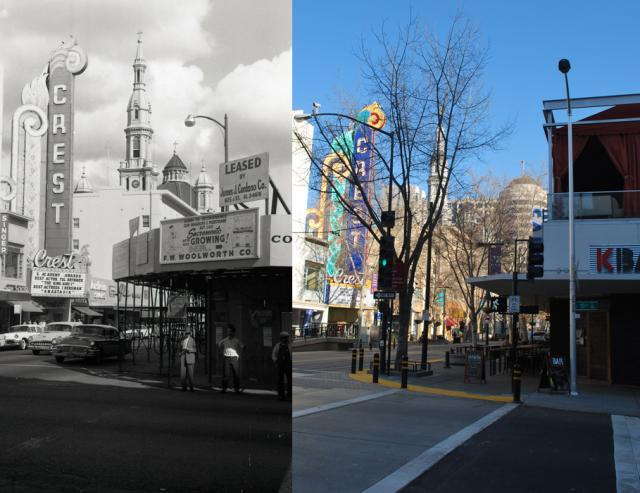 Historic Downtown Sacramento - then and now