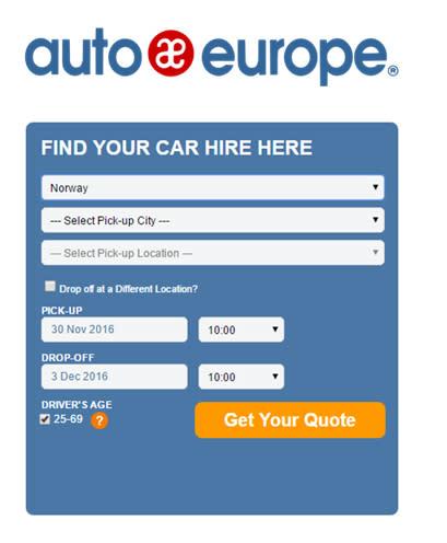 Auto Europe demo image