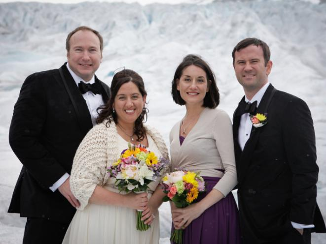 Juneau Glacier wedding