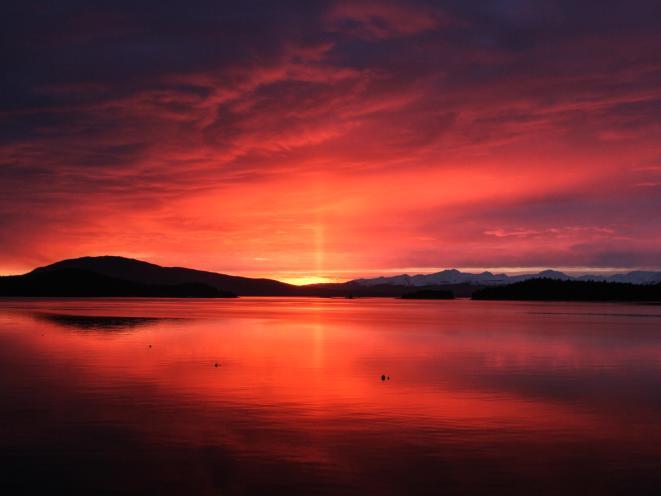 Auke Bay red sunset