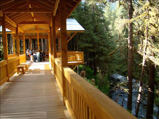 Our river-walk pavilion overlooking Fish Creek