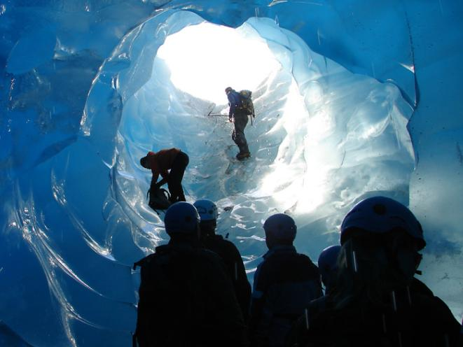 Ice Cave on Mendenhall Glacier
