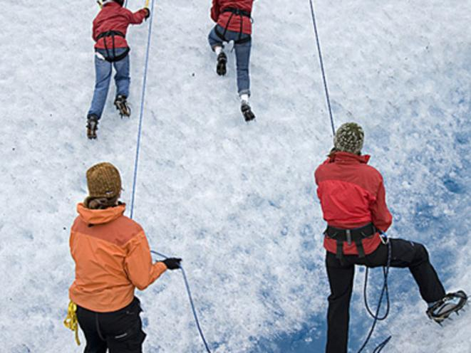 Ice climbing on Mendenhall Glacier
