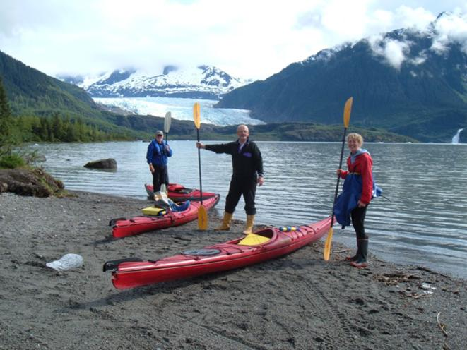 Kayaking on Mendenhall Lake