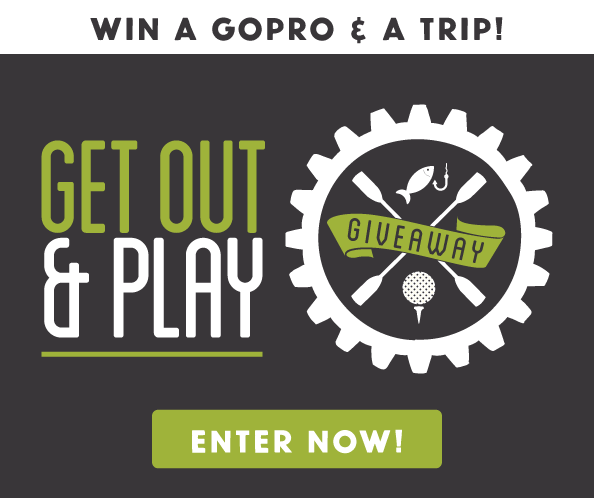 Enter the Get Out & Play Giveaway for a chance to win a GoPRO camera and a two night stay in the Stevens Point Area!