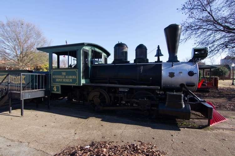 Train at Huntsville Depot