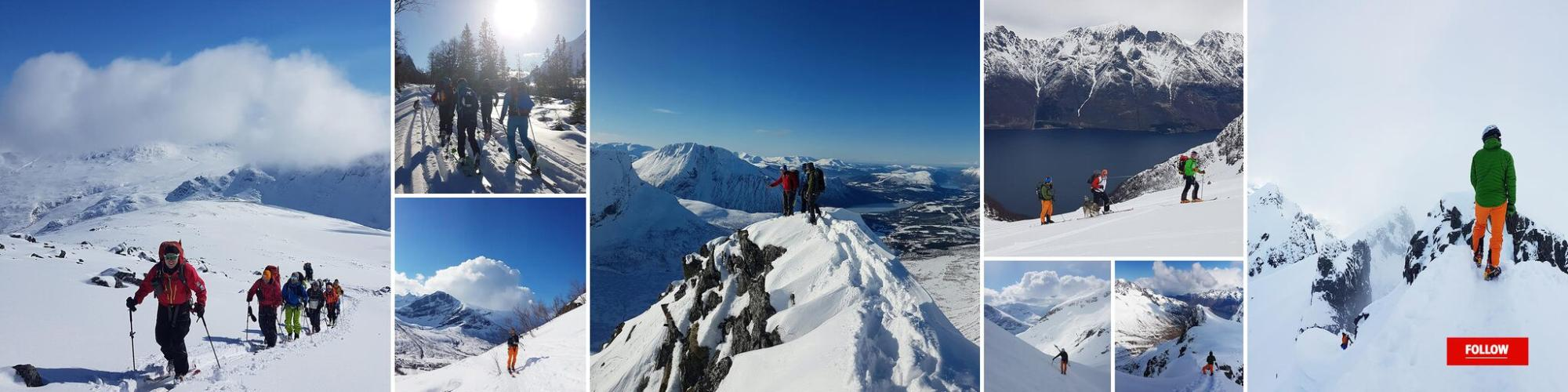 Ski toruing collage