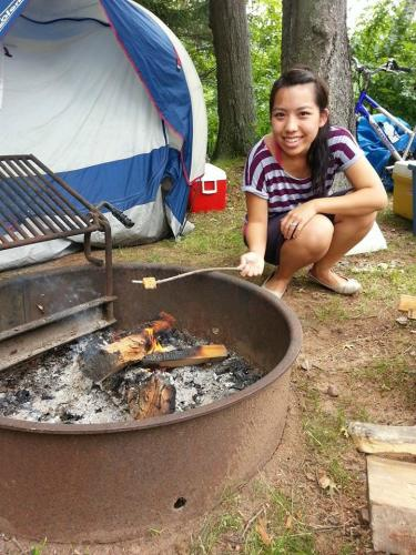 Blogger Yia Camping at Lake Wissota State Park in Chippewa Falls, Wisconsin