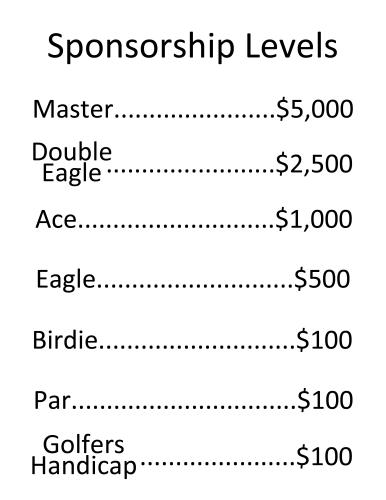 Wings of Golf Sponsorship Levels
